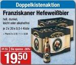 [V-Markt] 2 Kisten Franziskaner Weißbier (versch. Sorten) für 19,50€