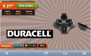 Duracell Ladestation für PS3/XBOX360/WII