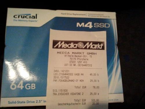 [MM] Crucial m4 SSD 64GB - 49€ - lokal?