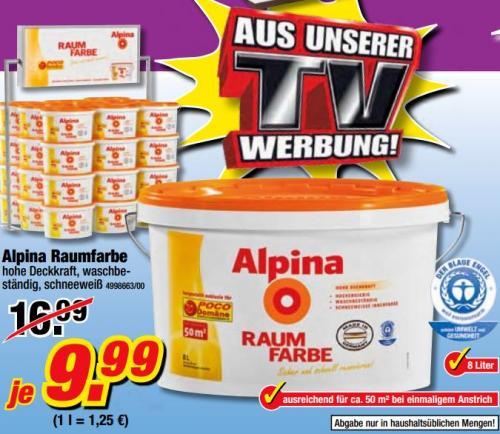 Alpina Raumfarbe Weiß 9.99 € statt 16.09 € [OFFLINE] [POCO-DOMÄNE]