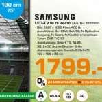 "Lokal HH LED TV 75"" Samsung UE75H6470"