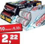 0,33l Dose Coca Cola light/Zero für 0,22€ beim Kauf des Friendspack [Thomas Philipps]