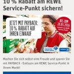Rewe 10% Rabatt auf den Einkauf beim Einlösen von mind 200 Punkten