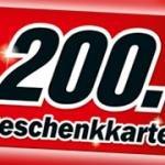 Media Markt München ab 999€ Einkaufswert 200€ Gutschein erhalten.