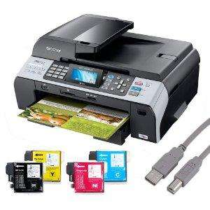 Brother MFC-5890CN 4in1 MultiDrucker + 10x Kompatible Patronen(keine Originale) + USB Kabel inkl. Versand 77,90€