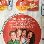 Müller Drogerie 20% auf Spielwaren&Games