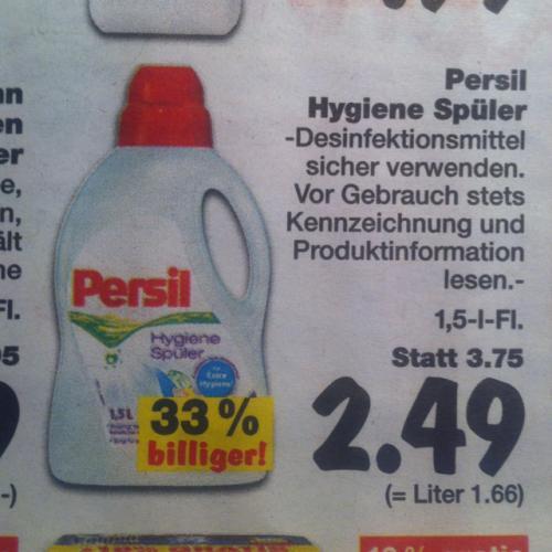 [Offline] Persil Hygiene Spüler 1,49 statt 3,75 @Kaufland