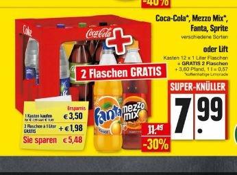 [EDEKA Nordbayern] - 1 Kiste Coca Cola + 2fl gratis + EM Fan Schal