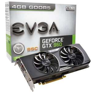 "EVGA™ - PCIe-Grafikkarte ""GeForce GTX 960 SuperSC ACX 2.0+ (4GB)"" für €179,90 [@ZackZack.de]"