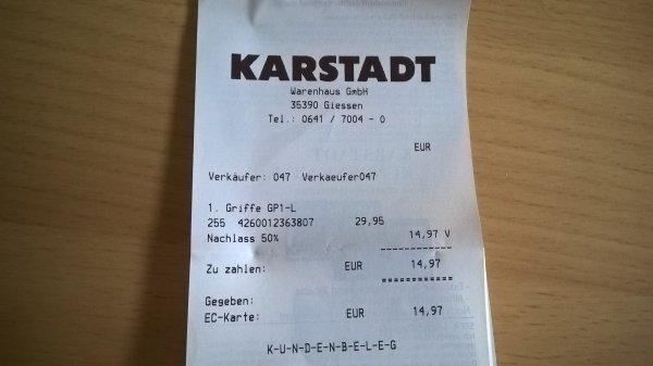 [Lokal Gießen] Karstadt Fahrrad Fachmarkt 50% auf alles
