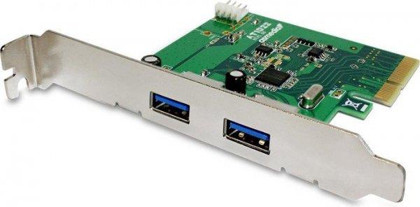 Fantec 1783, 2x USB 3.1 (Typ-A), PCIe x1