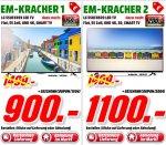 [Mediamarkt Porta Bundesweit] TV-EM Kracher. Zb.. LG 55UF6959 LED TV (Flat, 55 Zoll, UHD 4K, SMART TV) , EEK: A für 900,-€ + 150€ Gutschein++++LG 55UH8509 - LED-Fernseher, 4K, 55 Zoll, silber , EEK:A+ für 1100,-€ + 200,-€ Geschenkkarte und weitere.