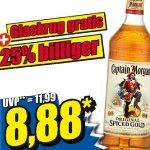 Captain Morgan 0,7L + gratis Glaskrug ab Freitag für nur 8,88€ [Norma]