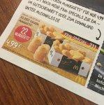 22 McNuggets McDonald nur 4,99,-
