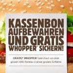 """[Burger King] Whopper """"geschenkt"""" für gr Pommes + gr Softdrink"""