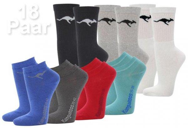 18 Paar KangaROOS Socken Sportsocken & Sneaker für Damen und Herren @ eBay WOW