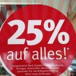 Rossmann Germering 25% auf alles!