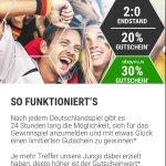 eBay Gewinnspiel 20%/30% Gutschein nach dem Deutschlandspiel