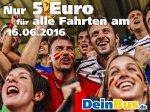 DeinBus.de - Alle Fahrten für 5 €! nur morgen, 16.06.16