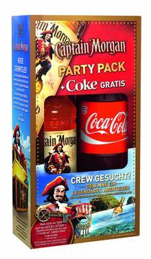 Captain Morgan Party Pack (0,7 Liter Spiced Gold + 1 l Cola) für 9,99 bei Netto ohne Hund