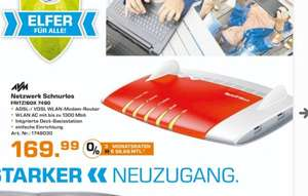 (Lokal) AVM FRITZ!Box 7490 für 169,99€ @ Saturn Wesel