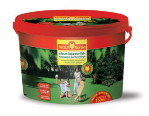 Ab in den Garten: WOLF Rasen-Reparatur-Set L 150 G für 27,82 €