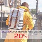 20% Aktion auf Lacoste, Shiwi Badeklamotten, Oas Swimwear und Aevor Rucksäcke