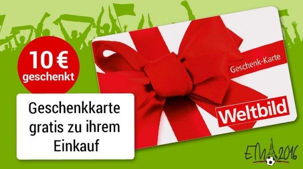 Weltbild 10 Euro Geschenkkarte Gratis ab 40 Euro - mit Gutscheinen kombinierbar !!!