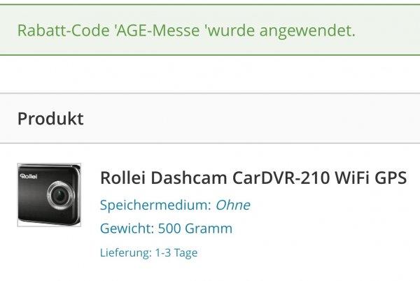 Rollei Car-DVR 110 & 210 mit Messerabatt für 89,99€ oder 143,99€