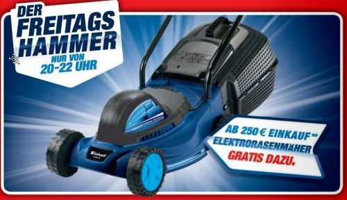 Ab 250€ Umsatz gratis Elektrorasenmäher beim Toom Baumarkt