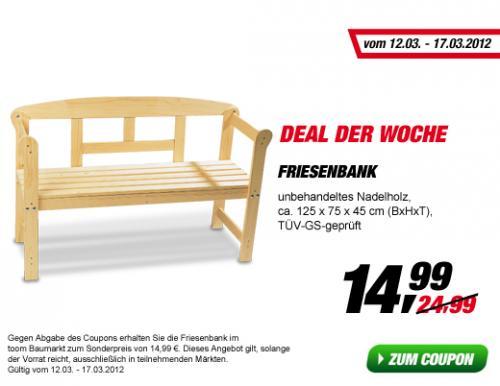 [offline] Friesenbank bei toom Baumarkt mit Coupon für 14,95€