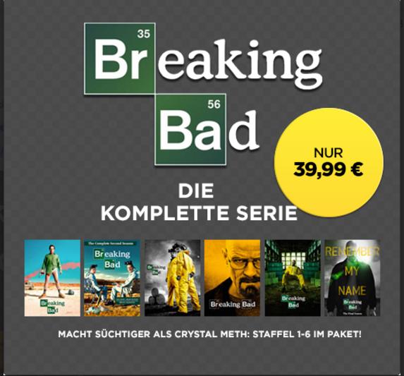 Breaking Bad - die komplette Serie (Staffel 1-6) für 39,99€ @ Wuaki.tv