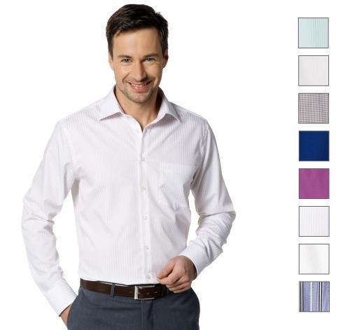 [ebay Wow] Herrenhemd: Seidensticker Langarm mit KENT Kragen
