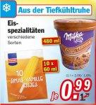 REGIONAL primär Niedersachsen/Bremen / Zimmermann Sonderposten - Milka Eiscreme (480ml) oder andere Eisspezialitäten für 0,99 Euro