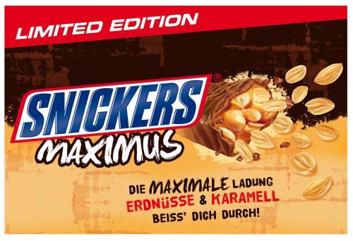 Snickers Maximus 6x45g für 1,49 Eur @Lidl