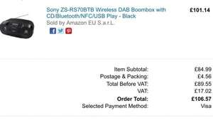 [amazon.co.uk] Sony ZS-RS 70 BTB