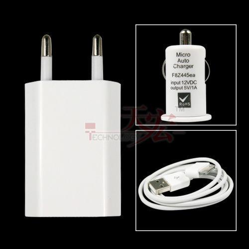 Iphone USB-Ladegerät, Auto-Ladegerät und Datenkabel @eBay <3€