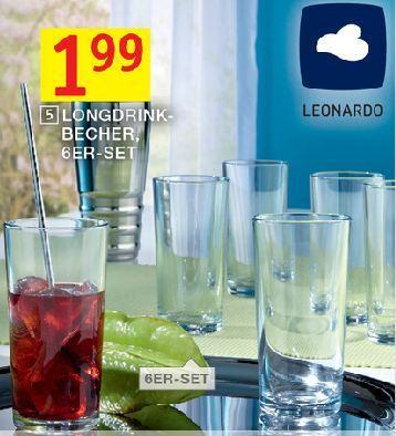6 Leonardo Longdrink Gläser für 1,99€ @ Möbel XXL