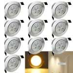 3W LED Deckenspot 10er Set 20,39€