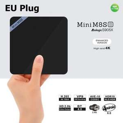 Mini M8S II Android Box (Amlogic S905X Quadcore, 2GB RAM, 8GB eMMC, BT 4.0 + Infrarot, HDMI 2.0 = 4K@60fps, VP9 Decoder, LAN + 2x USB + microSD + SPDIF, Android 6) für 27,24€ [Gearbest]