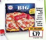 Wagner Big Pizza verschiedene Sorten für 1,77€ bei Kaufland KW 27