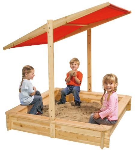 Eichhorn - Sandkasten (mit Sonnenschutz) für €32,94 [@MyToys.de]