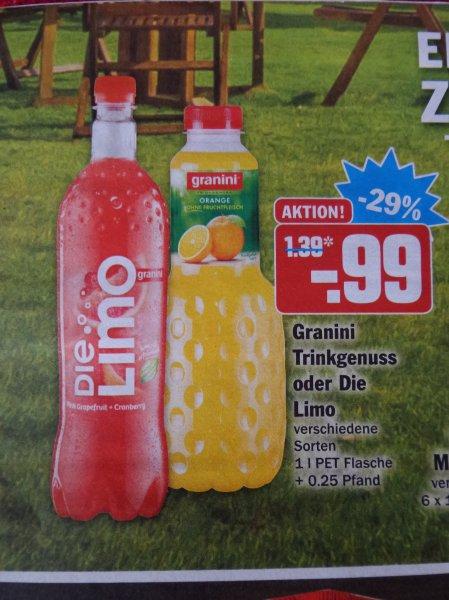 Die Limo von Granini 1L mit Coupon für 59cent bei HIT
