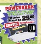 Mini Powerbank (2200 mAh) ab 25 € Einkaufswert bei trinkgut gratis [lokal NRW?]