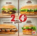 [Burger King] NEU: Der Long King Rib jetzt im 2 für 4€ Mix&Match