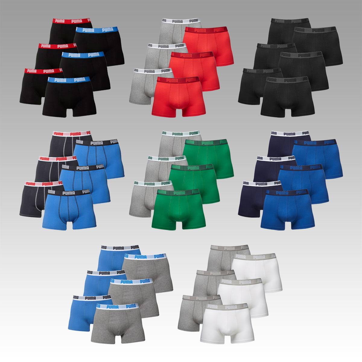 Puma Basic Boxershorts im 6er Pack in 8 verschiedenen Farben 29,95€ inkl. Versand