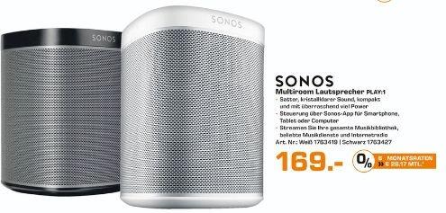 [Lokal Saturn Bielefeld) Sonos PLAY:1 I Kompakter Multiroom Smart Speaker für Wireless Music Streaming für 169,-€