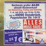 [Lokal Aldi Osnabrück Pagenstecherstraße] Sonderverkauf/Restposten/Schnäppchen ab 1,-€