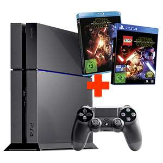PlayStation 4 Konsole 1TB inkl. Lego Star Wars - Das Erwachen der Macht + Star Wars - Film (Blu-ray) für 298,95€ bei REAL