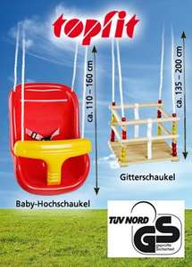 Achtung Edit: *nicht Netto Markendiscount* sondern Norma Topfit Babyschaukel Baugleich mit Hudora